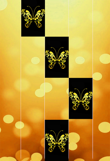 Gold Glitter ButterFly Piano Tiles 2018 1.4 DreamHackers 2