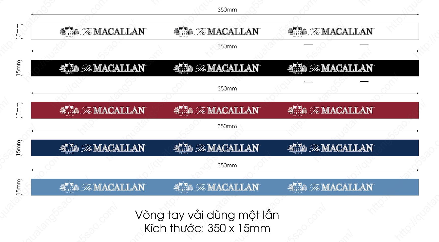 Vòng tay vải sự kiện của hãng rượu Macallan - File thiết kế