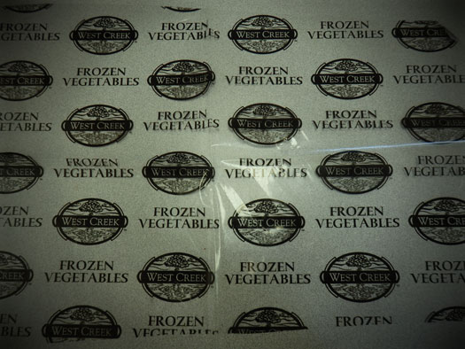 Front Label of West Creek,  Frozen Vegetables