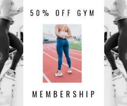 Gym Membership Discount - Medium Rectangle Ad item