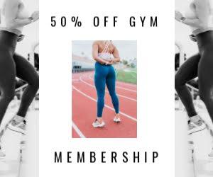 Gym Membership Discount - Medium Rectangle Ad Template