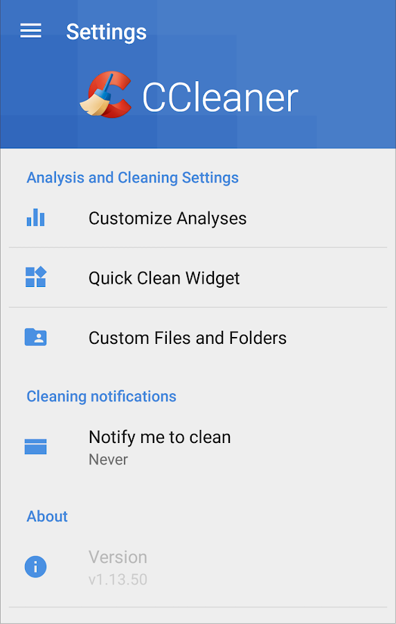 CCleaner- screenshot