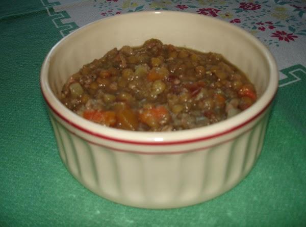 Italian Lentil Zuppa Recipe
