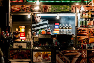 Photo: Food vendors are everywhere in New York City. This guy was set up on 5th Avenue right in front of Rockefeller Center. I used a combination of the clarity slider and the luminance slider in Lightroom to give the image more of a painted look.
