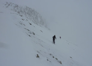Photo: Working our way to the Col