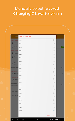 Full Battery Charge Alarm and Theft Security Alert 2.7 screenshots 11