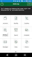 Screenshot of Mobile Banking