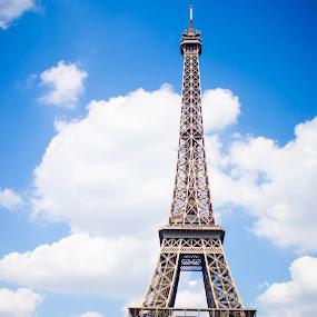 Spring in Paris by Melanee Thomas - Buildings & Architecture Other Exteriors ( #eiffeltower, #paris, #france, #spring, #europe, landmark, travel )