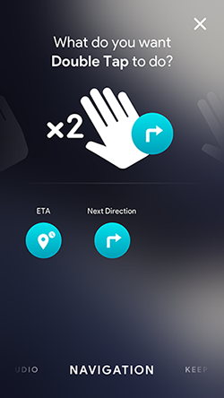 Assigning Navigation abilities to gesture