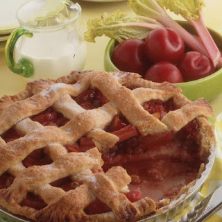 Plum and Rhubarb Pie.