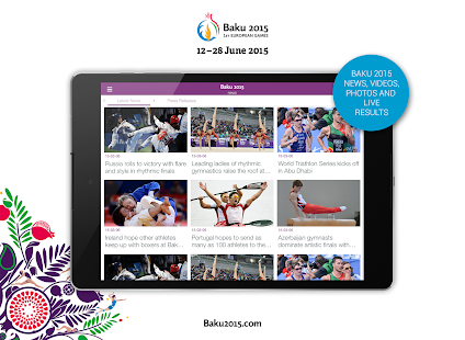The Official Baku 2015 App Capture d'écran