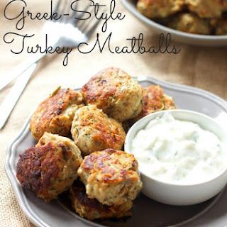 Skinny Greek-Style Turkey Meatballs