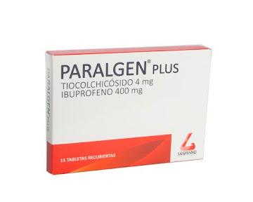 Ibuprofeno Paralgen Plus 4/400Mg Caja X15Tab. Legrand Tiocolchicósido Ibuprofeno