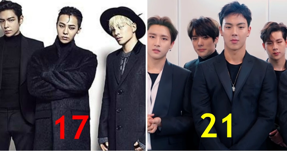 These Are The Youngest To Oldest Average Debut Ages For 21 Male K Pop Groups Koreaboo