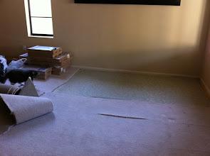 Photo: step 1 : remove old carpet