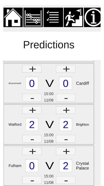 English Football Predictor – (Android Aplikace) — AppAgg
