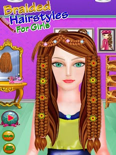 Braided Hairstyles For GirlsSpa Salon Android Apps On Google Play - Barbie hairstyle design game