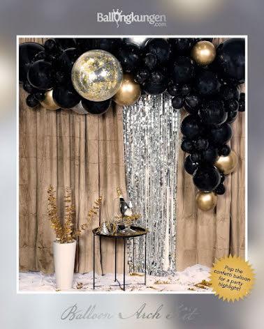 Ballongbåge - Guld/Svart