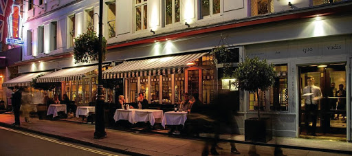 Traditional: The Barrafina tapas bar on Dean Street in London. The little tables outside give diners a ringside seat to the buzz of a Soho street made famous by Admiral Nelson, Charles Dickens, Karl Marx and Friedrich Engels. Picture: SUPPLIED