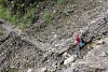 Indonesia. Papua Baliem Valley Trekking. Rough trail conditions on the Baliem Valley trek