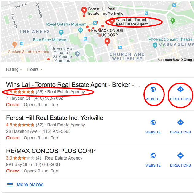 real estate lead generation google my business