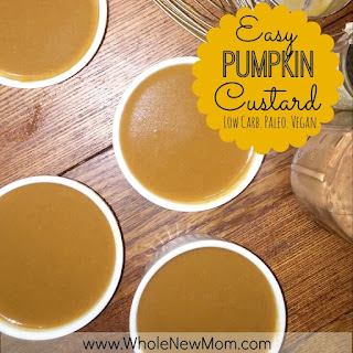 Easy Pumpkin Custard  – paleo, AIP friendly, vegan option
