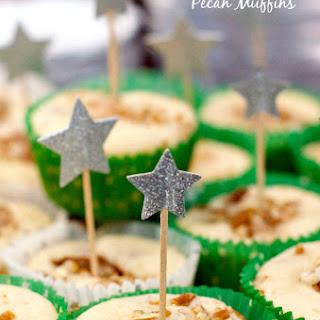 Sour Cream Pear Pecan Muffins