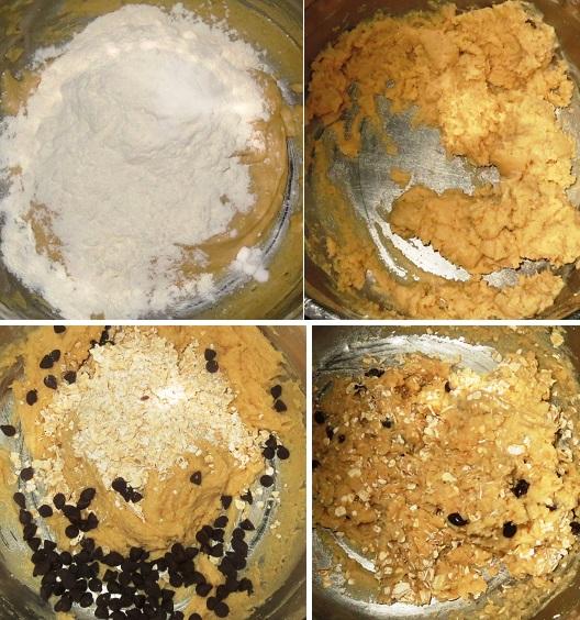 Homemade eggless Oatmeal Chocolate Chip Cookies Recipe by Foodomania.com