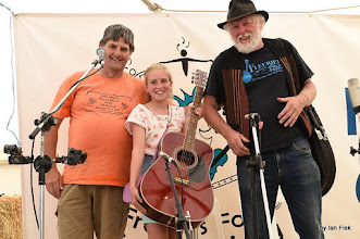 Photo: with Lucy the winner of the guitar