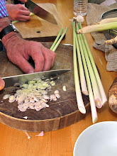 Photo: cutting lemon grass for the lemon grass pork