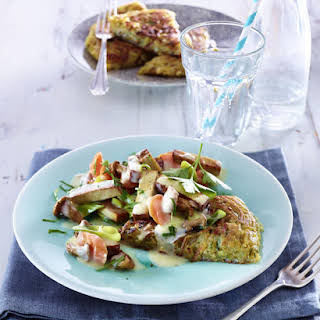 Hash Browns with Tofu and Mixed Vegetables.
