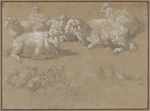 Reclining Sheep in a Landscape