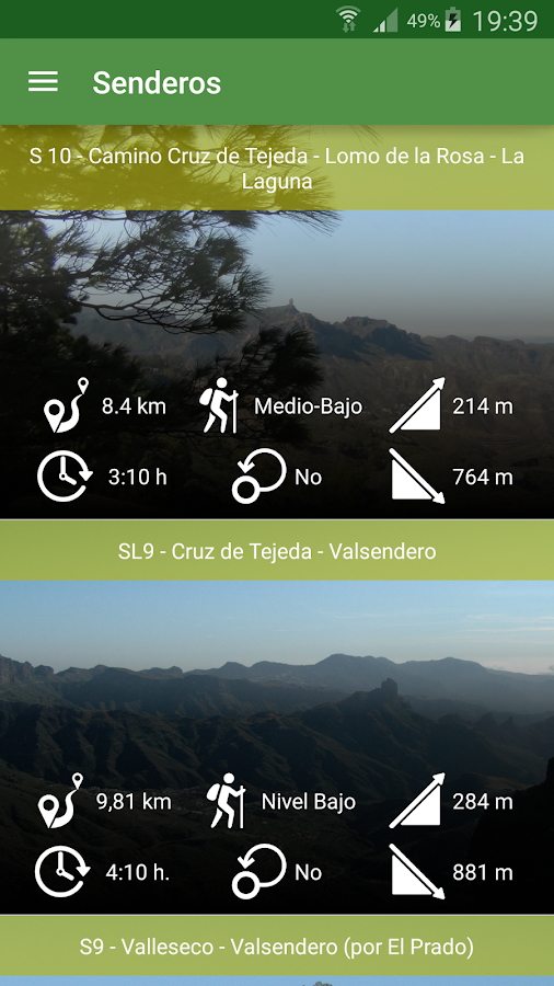 Valleseco Hiking Trails- screenshot