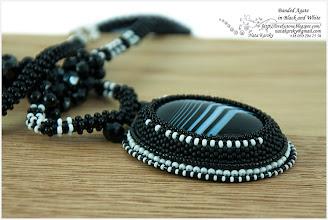 Photo: Banded Agate in Black and White - Чорно-білий смугастий агат