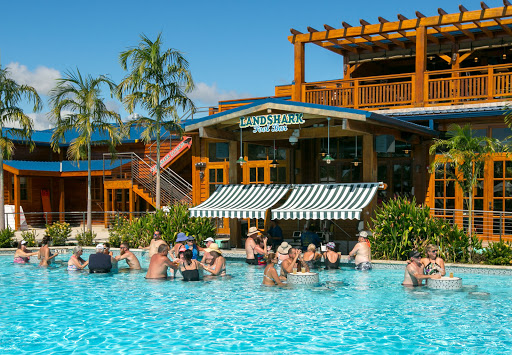 landshark-pool-bar.jpg - The popular Land Shark Bar at Harvest Caye in Belize.