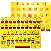 Banana Emoji Keyboard Theme Wallpaper