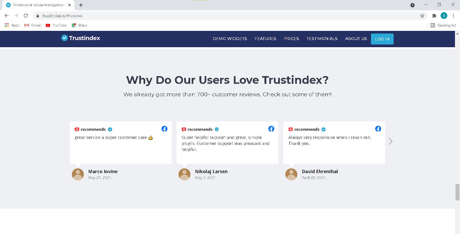 reviews about trustindex