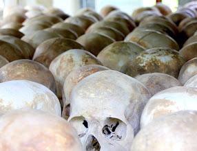 Photo: Year 2 Day 35 -  Rows of Skulls in the Memorial Stupa in Choeung Ek (Killing Field)