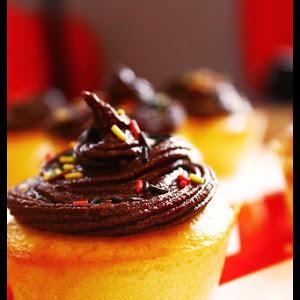 Chocolate-Pear Cupcakes