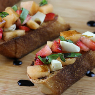 Summer Fruit Bruschetta.