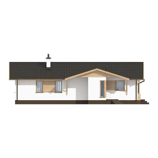 D10 - Iwona wersja drewniana - Elewacja przednia