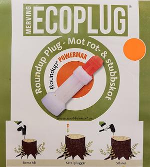 ECOPLUG 10, 25, 50, 100, 500 - pack 13 mm (Roundup-Plug