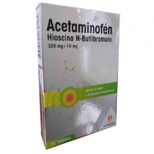 Acetaminofen + Hioscina N-Butilbromuro 325/10mg