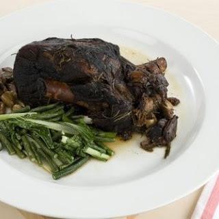 Slow Cooked Balsamic Lamb Roast.