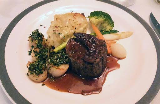 Queen-Victoria-Princess-Grills-steak - A steak dinner from Princess Grills during a recent sailing on Queen Victoria.