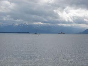 Photo: July 19 - The Alaska Ferry in Favorite Channel.