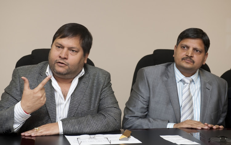 Ajay and Atul Gupta. Picture: MARTIN RHODES