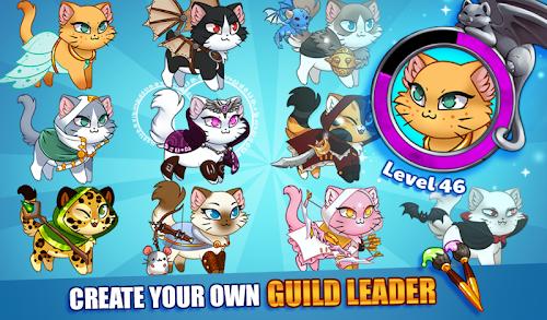 Screenshot 1 Castle Cats:  Idle Hero RPG 2.4.14 APK MOD