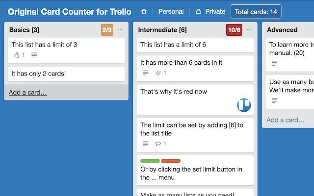 Original Card Counter for Trello