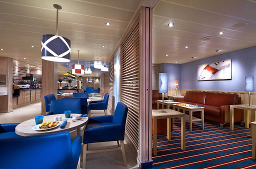 carnival-panorama-Family-Harbor.jpg - Located within the dedicated family zone on Deck 2 of Carnival Panorama, the Family Harbor Lounge features large-screen TVs, games and complimentary breakfast and snacks.
